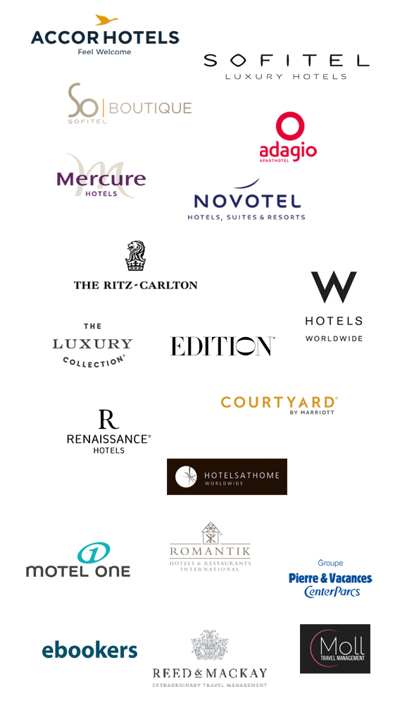 Kunden Stereotexte Accor, Sofitel, Mercure, Ritz Carlton, Edition, W Hotels, Motel One