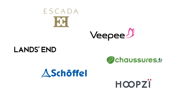 Kunden Stereotexte Escada, Vente Privee, Lands End, Schöffel, Hoopzi